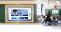 供应65寸多媒体教学班班通教学推拉黑板液晶电脑电视会议活动查询电脑