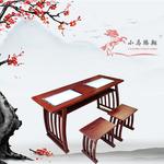 生产学校实木临摹桌凳 中学生实木临摹桌椅