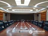 志歐無紙化會議系統液晶屏自動隱藏升降會議桌
