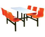 六人連體桌椅