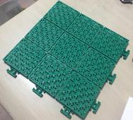 双层小米格软连接悬浮式拼装地板 幼儿园篮球场米字格悬浮式塑胶拼装运动地板
