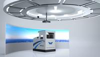 北京云安通航  飛行模擬器  飛行訓練器v172 艙載設備齊全,布局與真機保持一致。