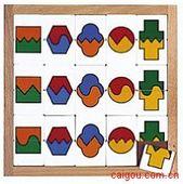 双色形状分类拼图