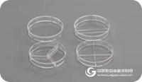 上海百千生物J00103細菌培養皿90mm分格培養皿一次性細菌培養皿二分格培養皿