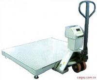 手推液压叉车秤,带电子秤的叉车,电子叉车磅