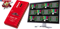 DMON-12S 12通道多画面分割器,带自定义布局/UMD/音频表/格子线/Tally