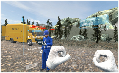 VR沉浸式架空输电线路运检三维仿真培训系统,虚拟现实实训