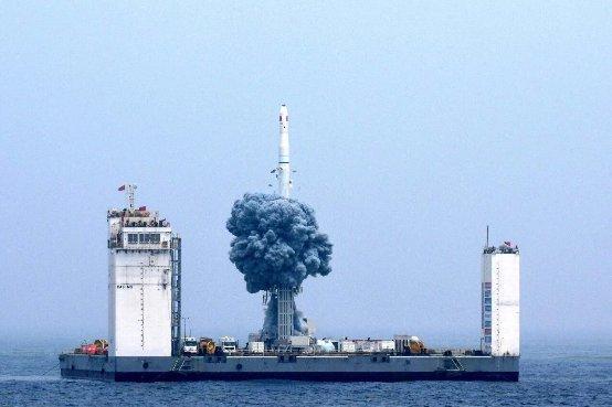 """空天创客战略合作伙伴天仪研究院""""娄号星""""海上发射成功"""