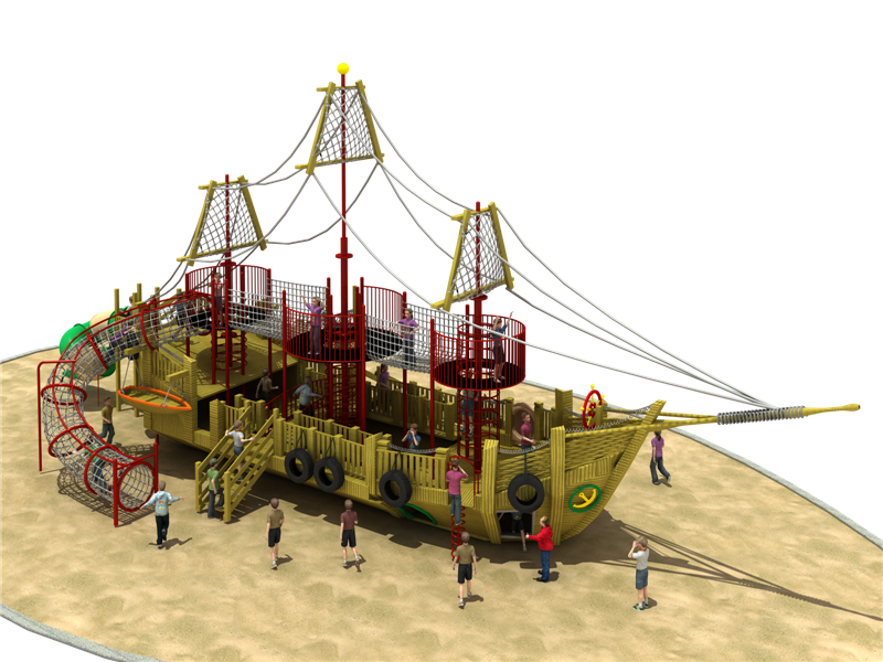 木制海盗船