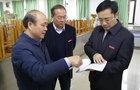 赣南医学院校长刘潜检查实验室建设工作