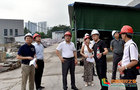 西南医科大学领导实地检查科技大楼基建工程项目情况