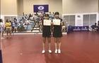 平潮初中两女生获初中组女子双打冠军