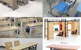 博仁辦公家具廠低價出售學生培訓課桌椅配套各種校園教學家具定制辦公室辦公桌椅老師辦公桌