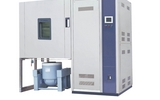 广东科明厂家直销带多测试孔透明大视窗5-35℃温度湿度震动三综合试验箱