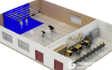 中视天威3D虚拟演播室 校园电视台 数字真三维虚拟校园演播室系统