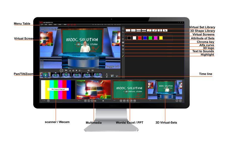 專業版微課教室——精品課件錄制,直播系統