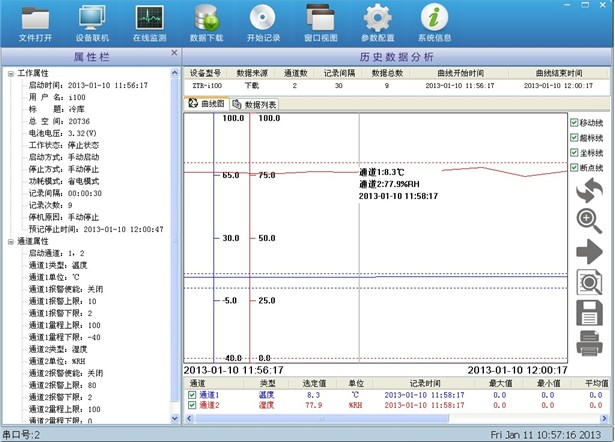 高精度低温温度记录仪 医用冰箱温度记录仪