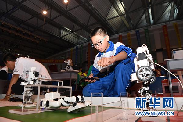 第二十届全国中小学电脑制作活动(宁夏地区)机器人赛开赛